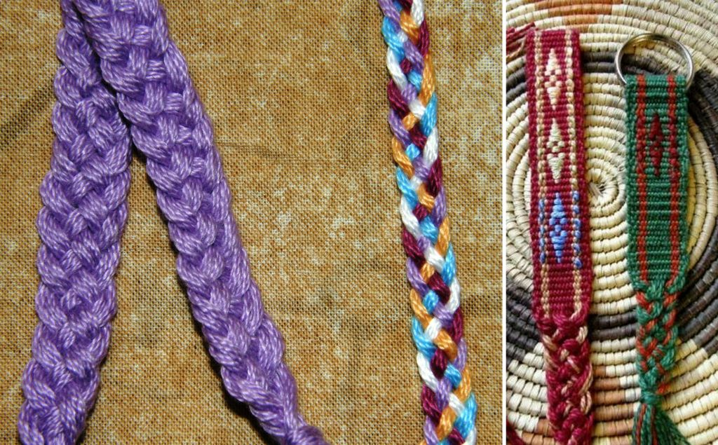 Five Stranded Braid Bracelet  Flax amp Twine