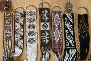 Key fobs in earthy colors