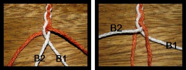 tutorial 4 strand braid backstrap weaving 5 strand flat braid 손가락 직조법(finger weaving) 001