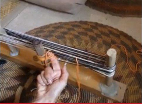 adding string heddles while warping