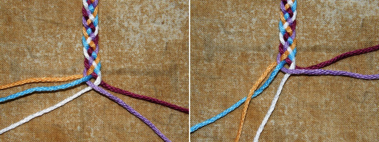 How to braid 2 strings