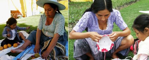 Maxima, daughter Soraida and granddaughter Nilda were my weaving companions for my three-day stay in Cochabamba.