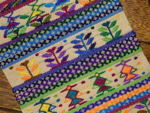 Guatemalan supplementary weft sampler overview