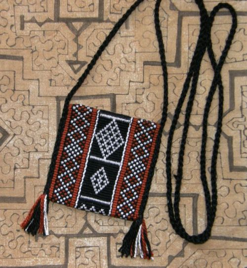 Bedouin design amulet bag
