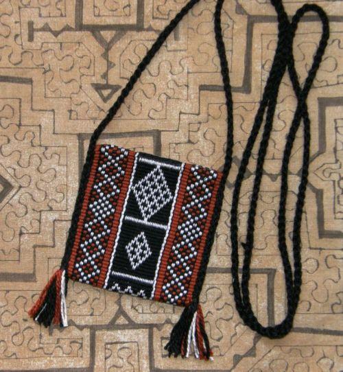 Bedouin design amulet bag