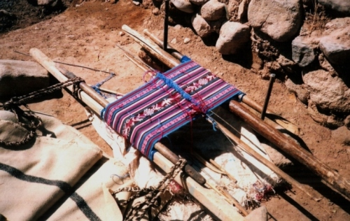 The first piece on which I learned the four-selvedge technique in Potosi, Bolivia