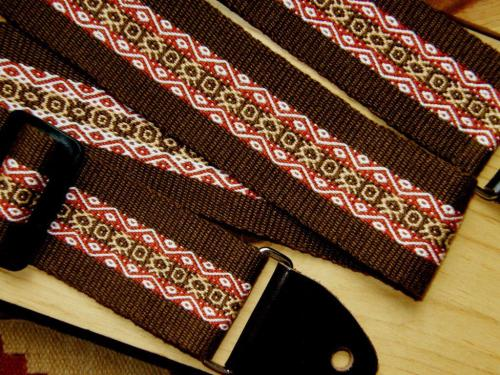 pebble weave guitar strap