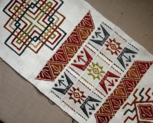 Bhutanese supplementary weft pattern sampler