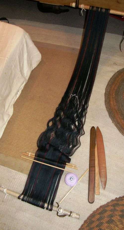 backstrap warp for scarf project