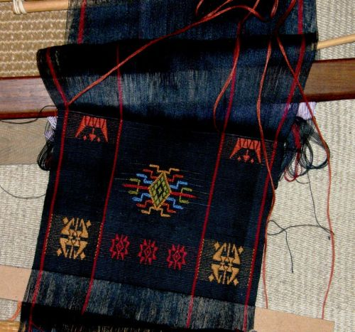 start of Bhutan design scarf