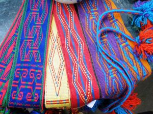 Reproductions of Wayuu si'ira belts woven by Mirja Wark