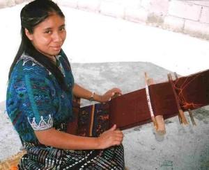 Carmen at her loom