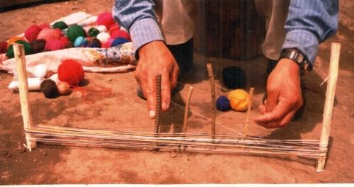 dovetail warp set-up