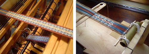 julia pebble weave on two looms