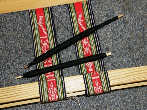 Montagnard backstrap loom with suttes and double band