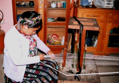 weaving a hair sash zunil guatemala