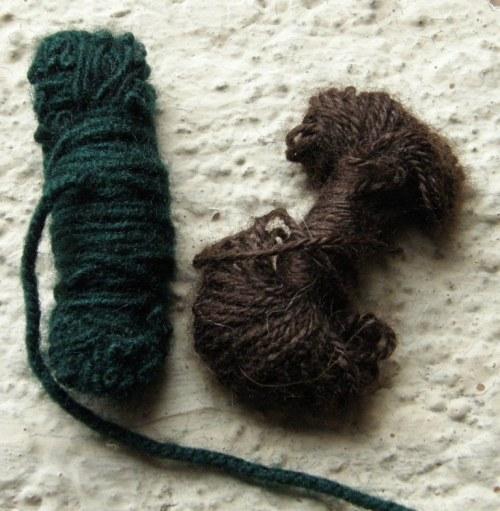 yarn bitterflies used in backstrap weaving