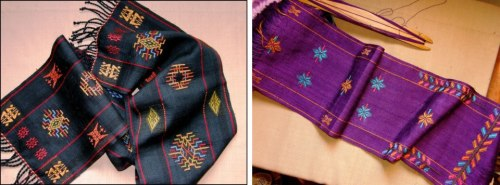 backstrap weaving scarves
