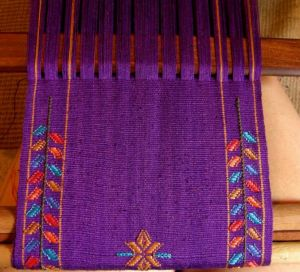 supplemntary weft inlay cotton scarff