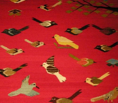 bird tapestry zapotec Zenon Hipolito