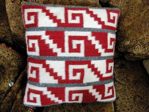 greca design on a pillow cover