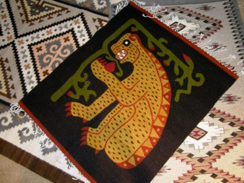 zapotec jaguar weaving