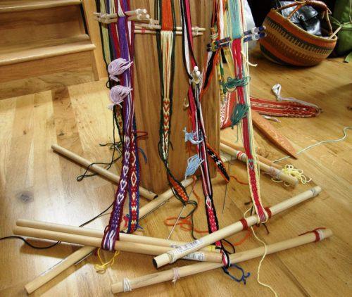 pebble weave bands backstrap looms