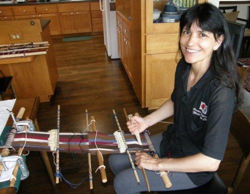 discontinuous warp backstrap loom