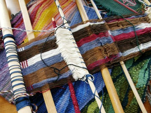 discontinuous warp backstrap weaving