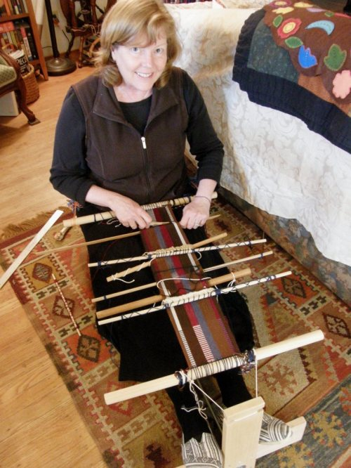 dorothy weaving the ticlla piece