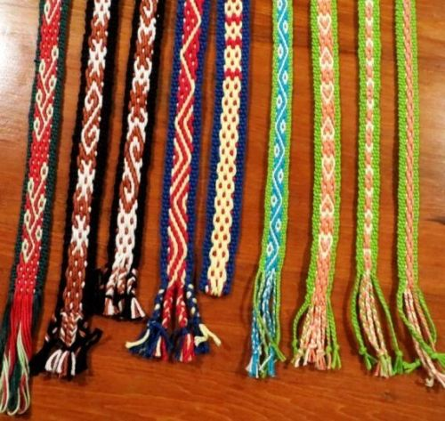 Karen's pebbel weave bands backstrap weaving