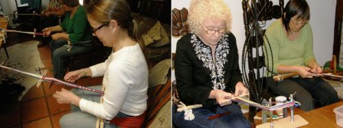 Karen mary and susan backstrap weaving