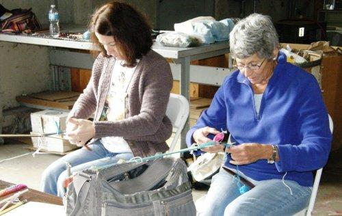 laura and nan backstrap weaving