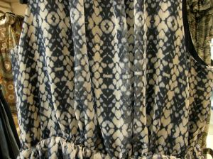 shibori-like fabric in fasion