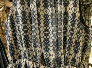 shibori-like fabric in fasion