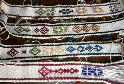 supplementary weft patterned bands