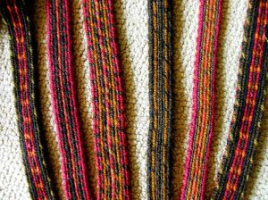 tablet woven wool bands