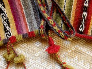 coil stitch ad pom poms