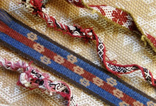intermesh band with Janet's handspun