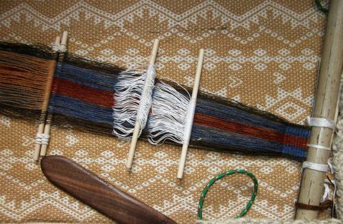 Backstrap weaving with Janet's handspun wool