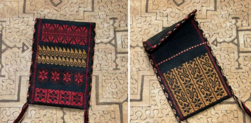 pouch front and back backstrap weaving