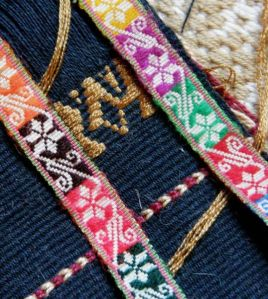 sample for Bolivian hatband design