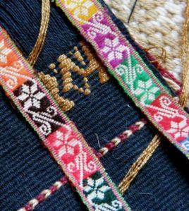 sample for Bolivian hatband design