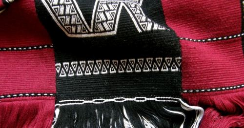 wayuu inspired coutered weft twining