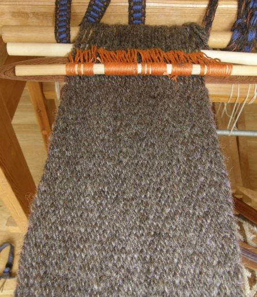 Aces handspun yarn for backstrap
