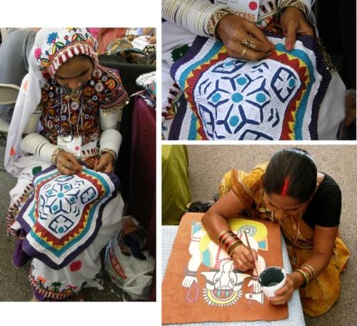 artisans at work santa fe folk art market