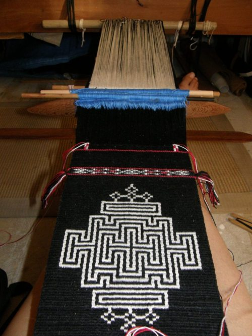 back at my backstrap loom
