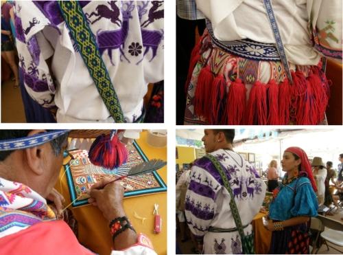 huichol artsists at santa fe