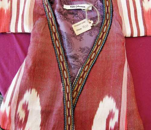 ikat robe at folk art market