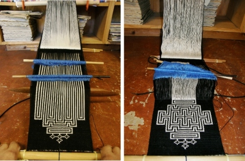 labyrinth design backstrap weaving
